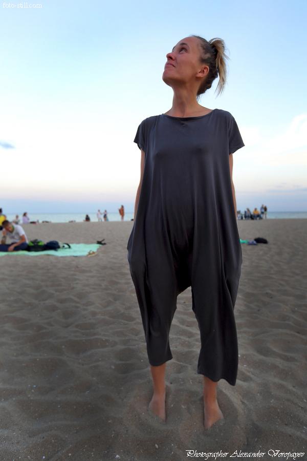 Лохматые сиськи на пляже